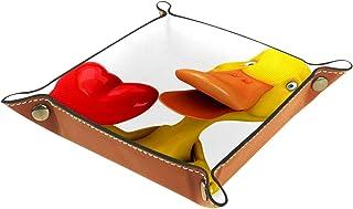 Vockgeng Canard Animal Mignon Boîte de Rangement Panier Organisateur de Bureau Plateau décoratif approprié pour Bureau à D...