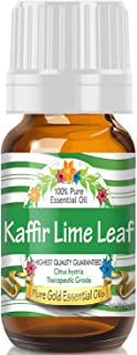 Pure Gold Kaffir Lime Leaf Essential Oil, 100% Natural & Undiluted, 10ml