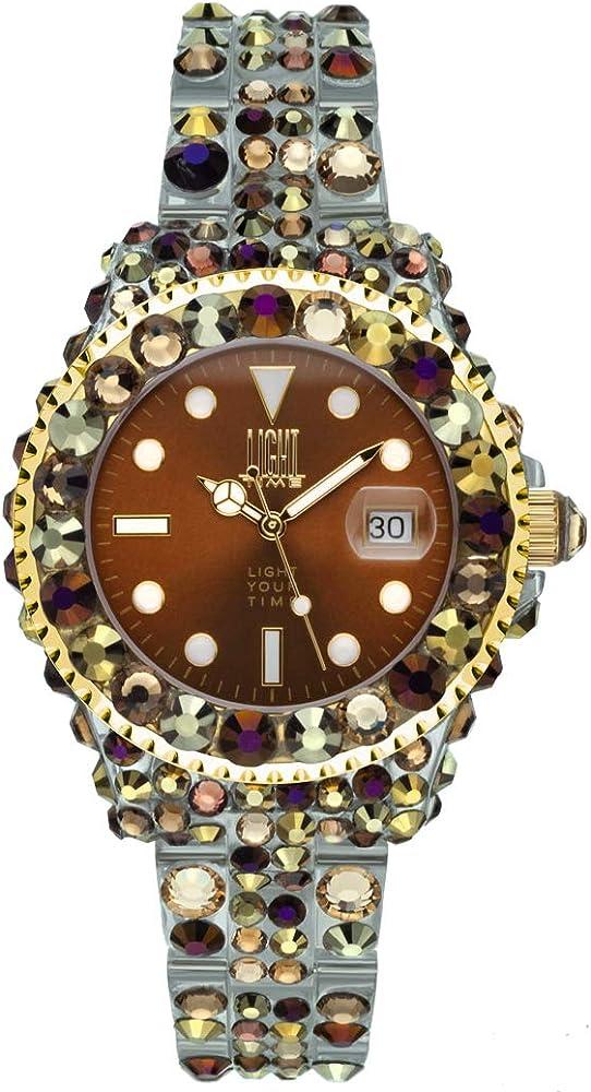 Light time mediterraneo, orologio per donna, in policarbonato con 300 cristalli preciosa L603Z