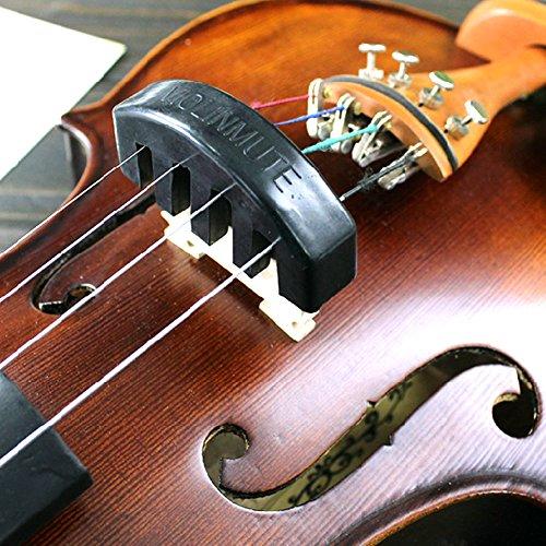 heroneo Violine Praxis Heavy schwarz Gummi Violine Mute Schalldämpfer Elektro-Akustikgitarre