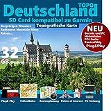 Deutschland V21Outdoor Topo Karte passend für Garmin Etrex 1000, 1030, Explore, Touring, Touring Plus