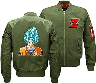 Lilycle Boys/Men Novelty Dragon Ball Full-Zip Flight Jacket Japanese Anime Baseball Coat Goku Cosplay Costume Tops