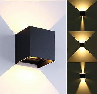 Lampada da parete moderna a LED 12W / lampada da parete esterna impermeabile angolo del fascio regolabile, coperture in le...