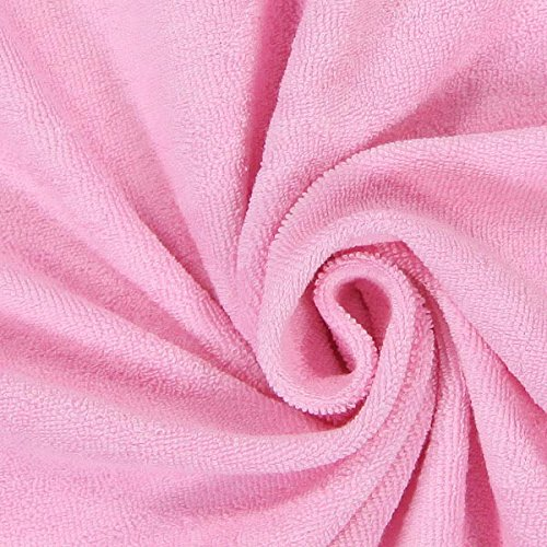 Fabulous Fabrics Frottee Stretch 4 rosa — Meterware ab 0,5m — zum Nähen von Bettwäsche, Handtücher und Pyjamas