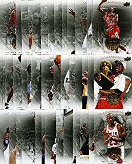 Rare lot of FOURTY-FIVE(45) 2008/09 Upper Deck Michael Jordan Legacy Hall of Fame Gold Version Cards ! NO duplicate
