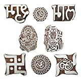 Hashcart Wooden Baren Printing Stamps Used for Making Saree Border | Pottery Crafts | Wall Paintings
