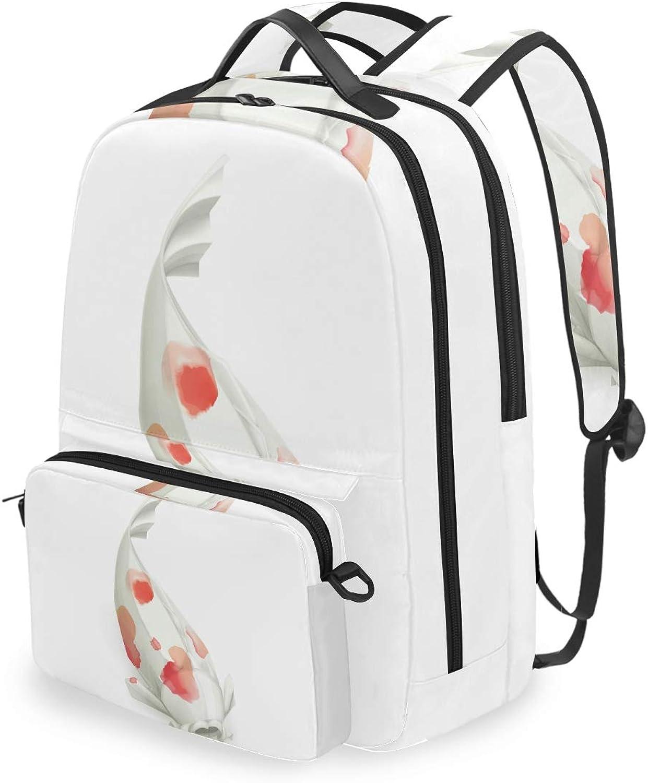 FANTAZIO Backpacks and Cross Bag Paper Folding Carp School Bag Set