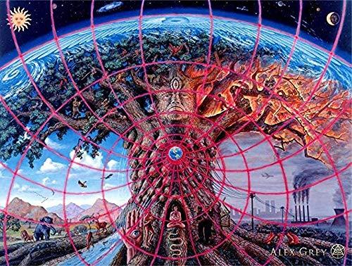 YUSHIJIA AS65ST12 Pósters e Impresiones, Extracto psicodélico de la Lona de Pintura del Arte Cuadros de la Pared, for Ministerio del Interior Decoración 40 cm x 60 cm Posters Prints