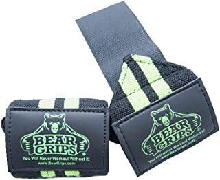 Bear Grips 2-Band Wrist Wraps. Ultimate Weightlifting Wrist wrap Support Straps, for Crossfit WODs, Gym Workout, Weight Lifting, Gymnastics. for Men, Women, Multi-Colors Available, 12