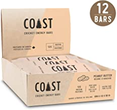 Coast Protein Cricket Energy Bars - 12g Protein, Gluten-Free, Dairy-Free, Non-GMO, Soy-Free Protein Bars – High Fiber, Vitamin B12, Amino Acids and Iron – 12 Bars