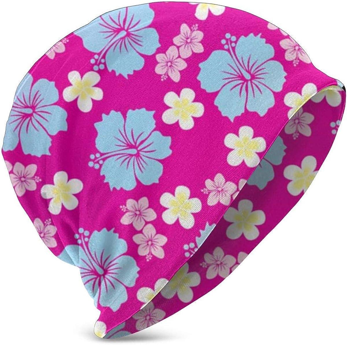 Unisex Beanie Hat Teenage Boys Girls Women Men Punk Rock Hiphop Cap(Hawaiian Pineapple Flowers Floral)