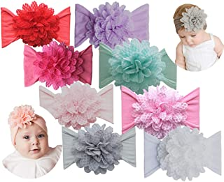 Qandsweet Baby Girls Headbands and Bows Newborn Toddler Children's Hair Accessories