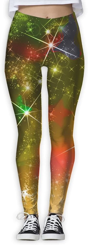 Galaxy Star Christmas Women Power Flex Running Yoga Pants Workout Tights Leggings Trouser
