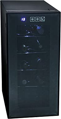 Koolatron KWT10BN Wine Cooler with 10 Bottle Capacity, Vibration-Free Thermoelectric Cooling, Digital Temperature Controls, B