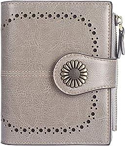 INOVERA (LABEL) Grey Faux Leather Women's Clutch (KK49)