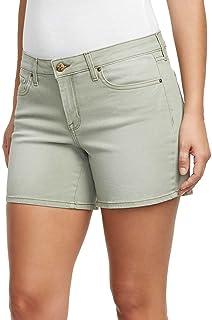 Jessica Simpson Ladies' Rolled or Unrolled Cuff Denim Short (8, Deep Lichen Green)