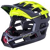 Kali Unisex-Adult Helm Invader SLD MAT YLW/BLK, Fluo Gelb/Schwarz, 58-62