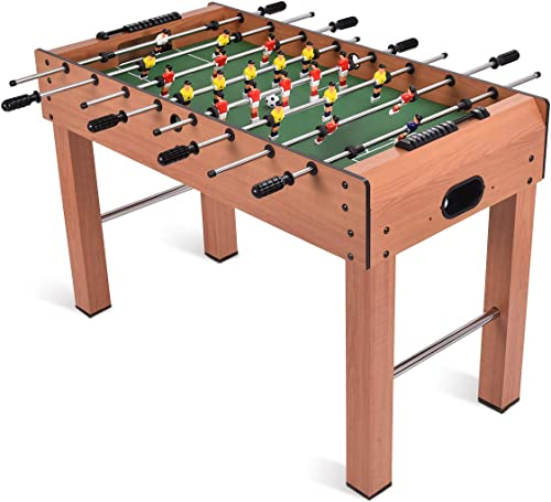 2021 Giantex 48'' Foosball Table, Wooden discount Soccer Table Game w/ Footballs, Suit for 4 Players, Perfect for Game Room, Arcades, Bar, Family Night, Competition new arrival Size Table Football for Kids, Adults online