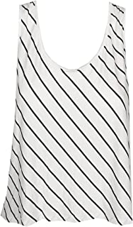 kensie Womens Jersey Striped Crop Top