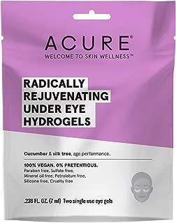 ACURE Radically Rejuvenating Under Eye Hydrogel Mask | 100% Vegan | Provides Anti-Aging Support | Cucumber & Silk Tree - Hydrates & Rejuvenates | 5 Count