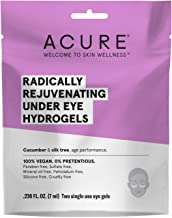 product image for Acure Radically Rejuvenating Under Eye Hydrogel Mask, 100% Vegan, Provides Anti-Aging Support, Cucumber & Silk Tree - Hydrates & Rejuvenates, 1 Count, Purple