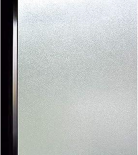 DUOFIRE 窓 めかくしシート 窓用フィルム 目隠しシール すりガラス調 断熱遮熱 結露防止 飛散防止 UVカット 浴室 風呂 玄関目隠し 水で貼る 貼ってはがせる 外から見えない 淡白DS001 (30 x 200cm)