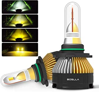 Boslla Bullet Headlight Bulbs LED 4 Modes for 9006/HB4,7200LM 6500K/4300K/3000K/Warning Flash for Sunny,Rainy,Foggy,Snowy Weather and Emergency