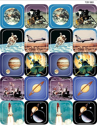 Teacher Created Resources Space Stickers, Multi Color (1801)