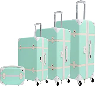 Trolley Travel Bags by Morano set of 4 bags 6688 - Green