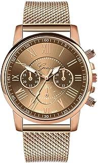 Kigin Wrist Watch, 1 Pc Women Fashion Quartz Watch Casual Metal Gift Wrist Watch (8 Colors) Wrist Watches