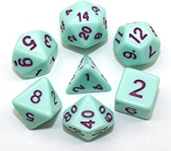 HD Dice Green DND RPG Dice Set Fit Dungeons and Dragons(D&D) Pathfinder Role Playing Games Polyhedral Acrylic Candy Series...