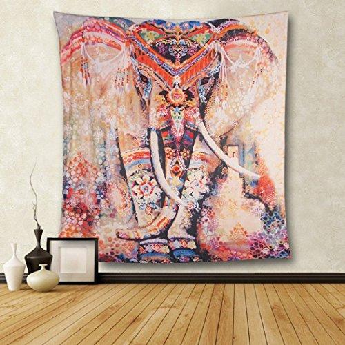 Goldbeing Elefant Wandteppich mit Böhmischem Stil, Indisch Hippie Wandbenhang Wandtuch Tabelle Vorhang Wand Decor Tisch Couch Bezug Picknick Decke Beach Vertikal Überwurf (130 x 150cm, Style 3)