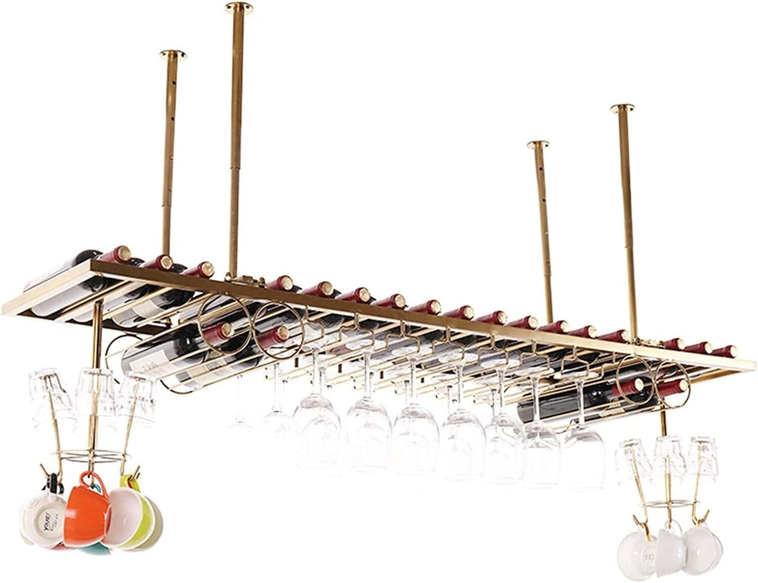 LXYYY Today's only San Diego Mall Wine Rack Ceiling Hanging Sta 60CM Bottle Holder