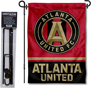 WinCraft Atlanta United Football Club Garden Flag with Stand Pole Holder