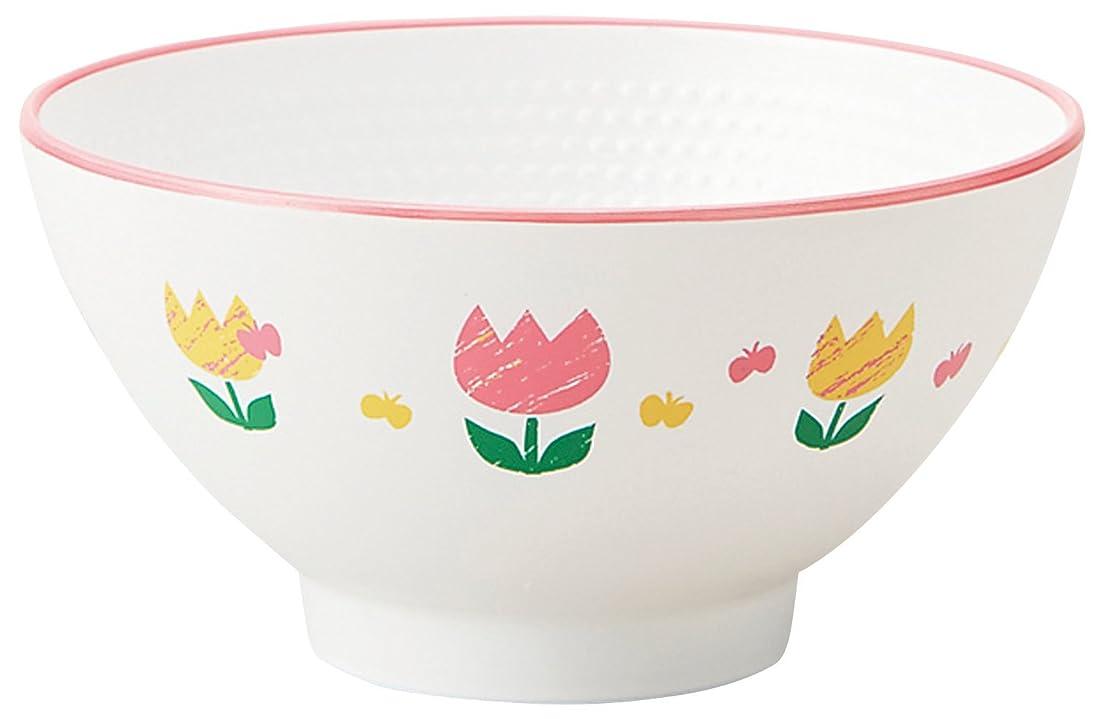 処方雪だるま田舎竹中 日本製 茶碗 チューリップ キッズ 茶碗 φ10.5×5.3 T-56452