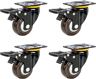 sahadsbv 4 sets van zware wielen,3/4/5 inch laag zwaartepunt,bestand tegen maximale belasting 375kg meubelwielen,industrië...