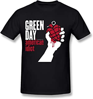 Refined Green Day American Idiot DIY Men's Comfort Cool Crewneck Cotton Short Sleeve T-Shirt