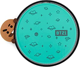BT21 Official Merchandise by Line Friends - SHOOKY Character Wireless QI Phone Charger Pad 10W, Teal