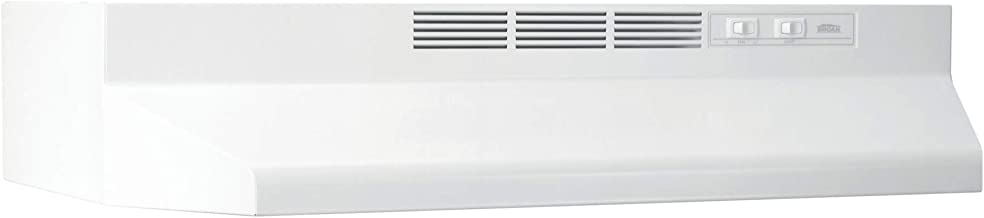 Broan-NuTone, White Broan 413001 ADA Capable Non-Ducted Under-Cabinet Range Hood, 30-Inch