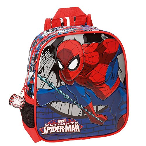 Spiderman Comic Zainetto per bambini, 25 cm, 5.75 liters, Multicolore (Multicolor)