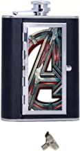 Custom Avengers Age Of Ultron Image Custom Personalized Matte Stainless Steel 6 oz Hip Flask Gift Box With Cigarette Case,Cool Travel Container