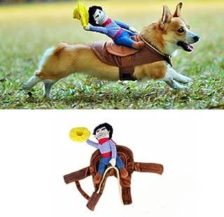 Angelwing Riding Horse Dog Costume Novelty Funny Party Pet Dog Costume Large Dog Clothes Cowboy Dog Clothing S-XL
