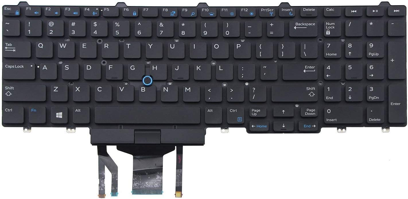 Laptop Keyboard Replacement for DELL Precision M3520 M7520 M7720 3520 7520 7720 Without Frame US Black Backlit Keyboard