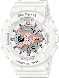 BA110RG-7A Baby G Women's Watch White 43.4mm Resin