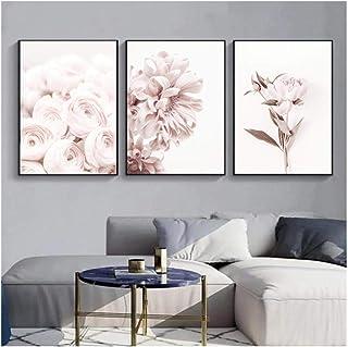 WQFairy Lámina artística Flores Arte de la Pared Peonía