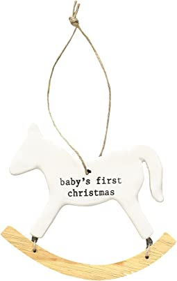Mud Pie - Baby's First Christmas Rocking Horse Ornament