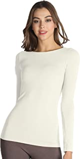 Women Seamless Long Sleeve Crew Neck Top, One Size