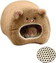 Cama para roedores de Emours, cueva colgante, diseño de oso, forro polar, con alfombrilla