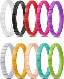 7 Silicone wedding ring Men Rubber band set Gym Sport Durable Modern Fish Design