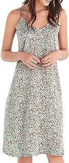 Our Heritage - Women's Floral Print Spaghetti Strap Midi A-line Slip Dress